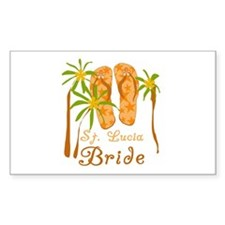 St. Lucia Bride Rectangle Decal