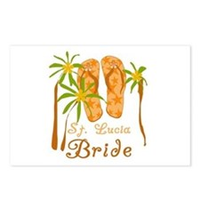 St. Lucia Bride Postcards (Package of 8)