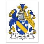 Langstaff Family Crest Small Poster