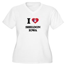 I love Sheldon Iowa Plus Size T-Shirt