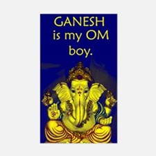 Ganesh Rectangle Decal