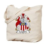 Langford Family Crest Tote Bag