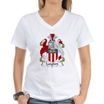 Langford Family Crest Women's V-Neck T-Shirt