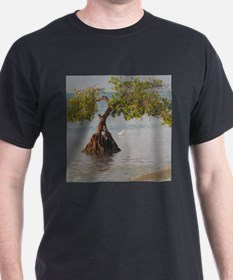Beach Tree and Shorebird T-Shirt