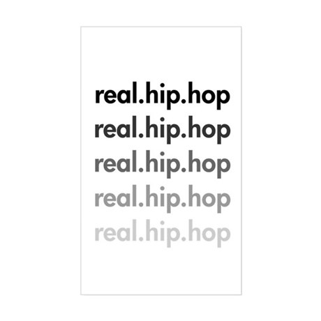 real.hip.hop Rectangle Sticker