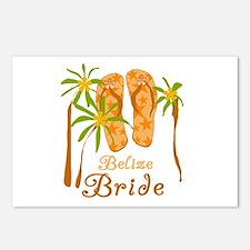 Tropical Belize Bride Postcards (Package of 8)