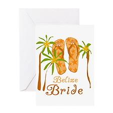 Tropical Belize Bride Greeting Card