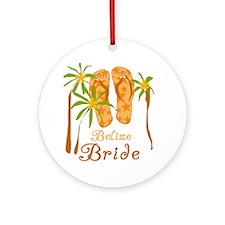 Tropical Belize Bride Ornament (Round)