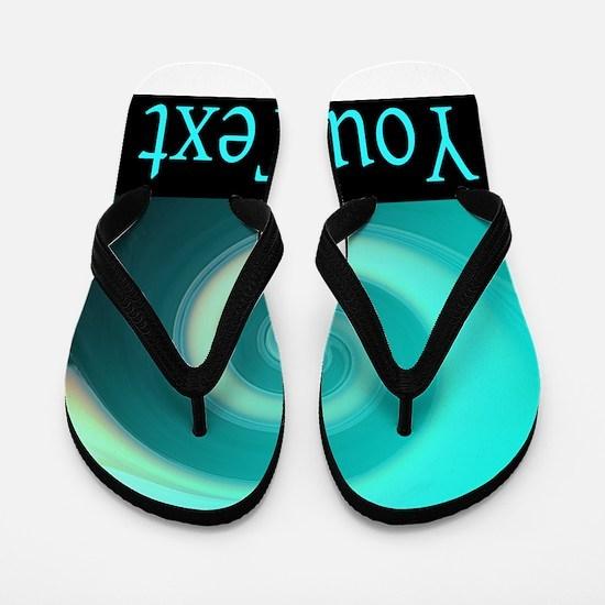 Personalizable Teal Wave Flip Flops