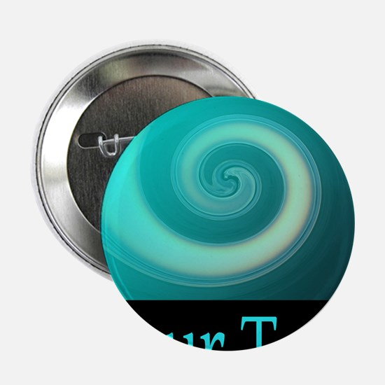 """Personalizable Teal Wave 2.25"""" Button"""