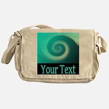 Personalizable Teal Wave Messenger Bag