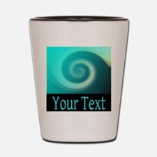 Personalizable Teal Wave Shot Glass