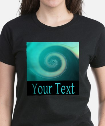Personalizable Teal Wave T-Shirt