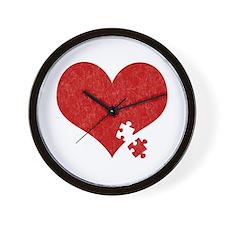 Autism Heart - Wall Clock