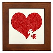 Autism Heart - Framed Tile