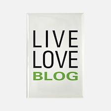 Live Love Blog Rectangle Magnet