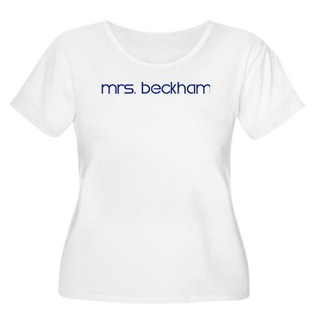 Mrs. Beckham Women's Plus Size Scoop Neck T-Shirt