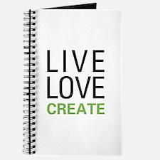 Live Love Create Journal