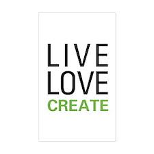 Live Love Create Decal