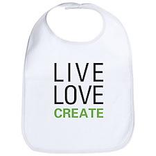 Live Love Create Bib