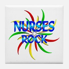 Nurses Rock Tile Coaster