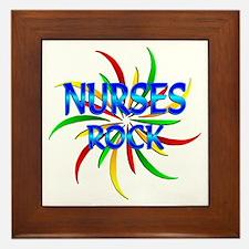 Nurses Rock Framed Tile