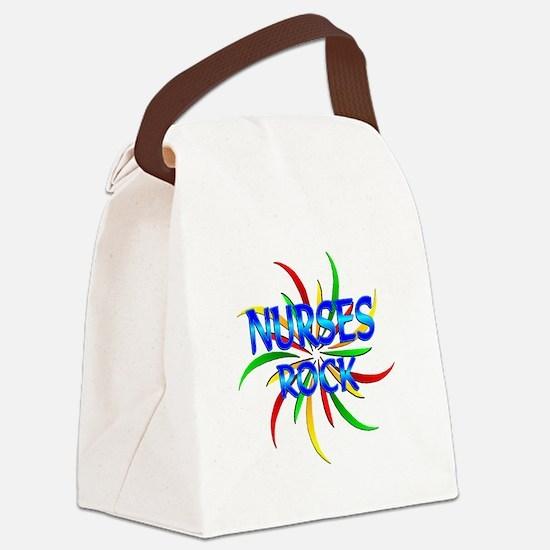 Nurses Rock Canvas Lunch Bag
