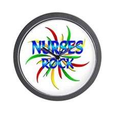 Nurses Rock Wall Clock