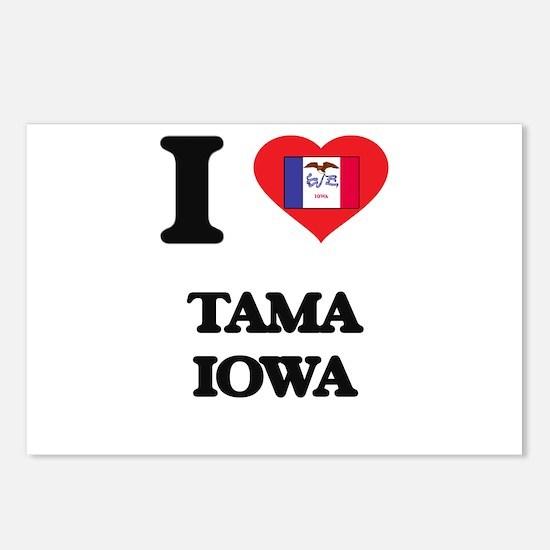 I love Tama Iowa Postcards (Package of 8)