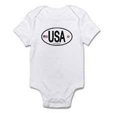 USA Euro-style Country Code Infant Bodysuit