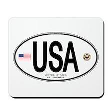 USA Euro-style Country Code Mousepad
