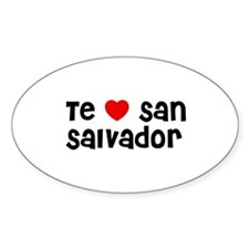 Te * San Salvador Oval Decal