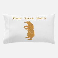 Distressed Brown Bear Standing (Custom) Pillow Cas