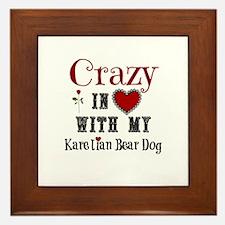 Karelian Bear Dog Framed Tile