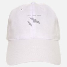 Distressed Grey Bats (Custom) Baseball Baseball Baseball Cap