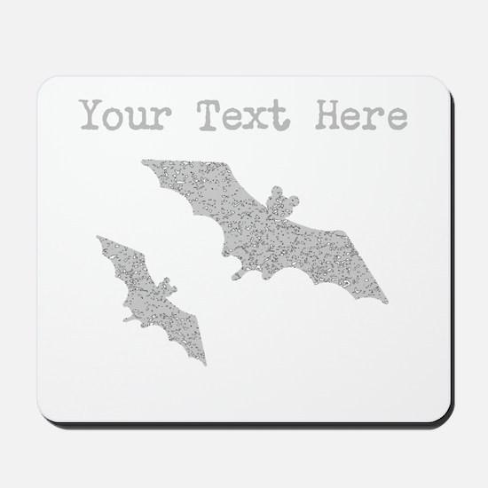 Distressed Grey Bats (Custom) Mousepad