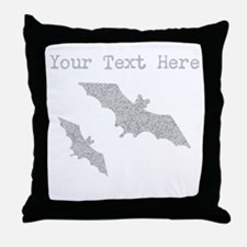 Distressed Grey Bats (Custom) Throw Pillow