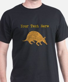 Distressed Brown Armadillo (Custom) T-Shirt
