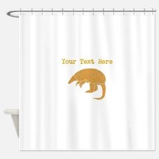 Distressed Brown Armadillo (Custom) Shower Curtain