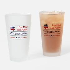 Vote Libertarian 2 Drinking Glass