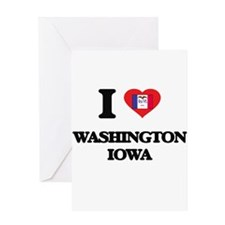 I love Washington Iowa Greeting Cards