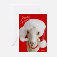 Goat Christmas- LaMancha Seasons Greetings Greetin