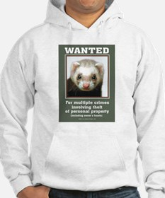 Ferret Wanted Poster Hoodie