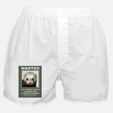 Ferret Wanted Poster Boxer Shorts