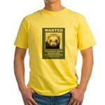 Ferret Wanted Poster Yellow T-Shirt