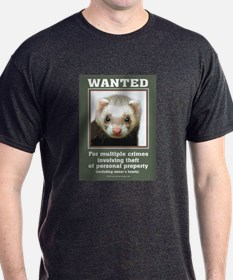 Ferret Wanted Poster T-Shirt