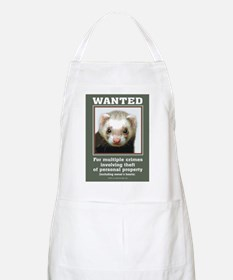 Ferret Wanted Poster BBQ Apron