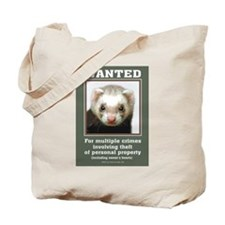 Ferret Wanted Poster Tote Bag