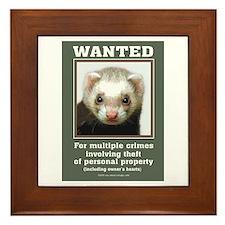 Ferret Wanted Poster Framed Tile