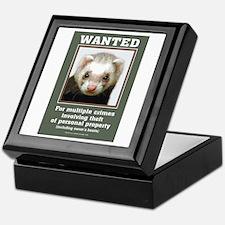 Ferret Wanted Poster Keepsake Box